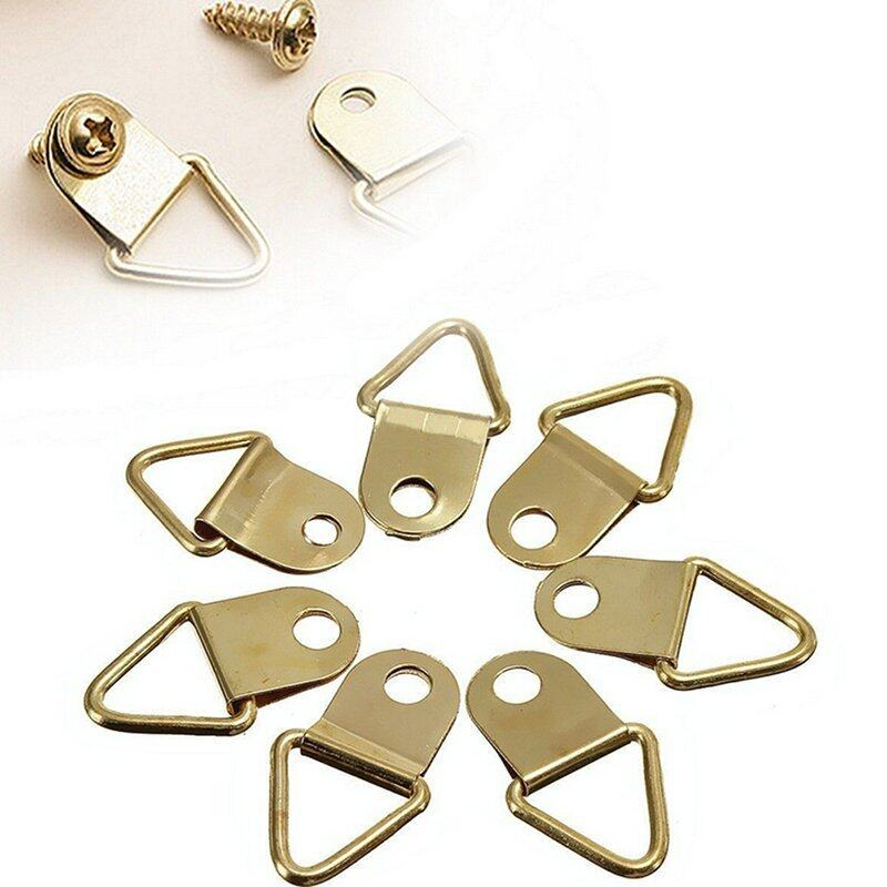 Buy 20Pcs Copper Triangle Photo Picture Frame Wall Mount Hook Hanger Ring Malaysia