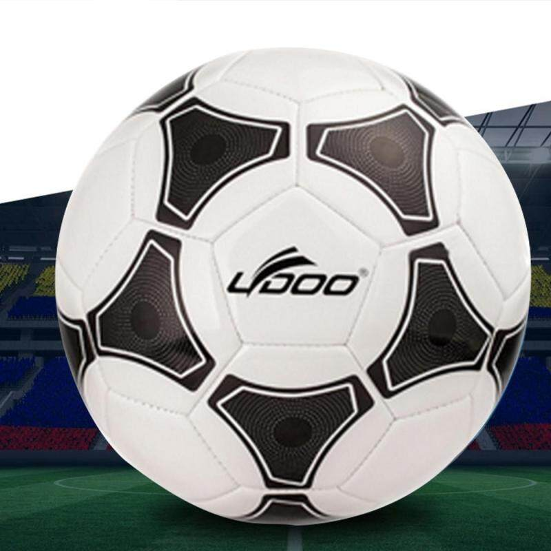 Buy 21.5cm PU Leather Sewing Wearable Match Football (Black + White) Malaysia