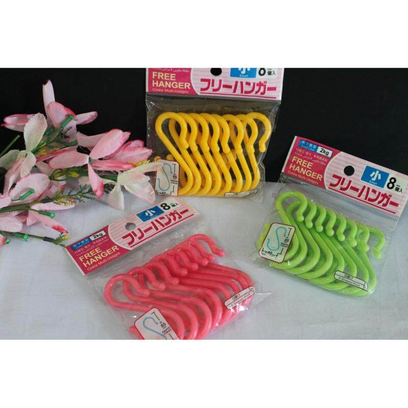 24 pcs Colourful Household Plastics Hook 3 Inches (Multi Colour)