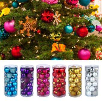 24Pcs/Set Plastic Christmas Balls Ornament Christmas Tree Decoration