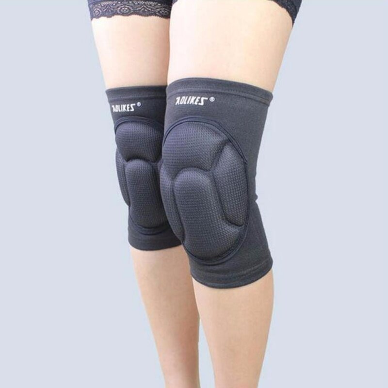 Buy 2pcs/lot Sponge Knee Support Black Soccer Knee Pads Protector Sports Fitness Kneepads Goalkeeper Football Volleyball Knee Support - BLACK Malaysia