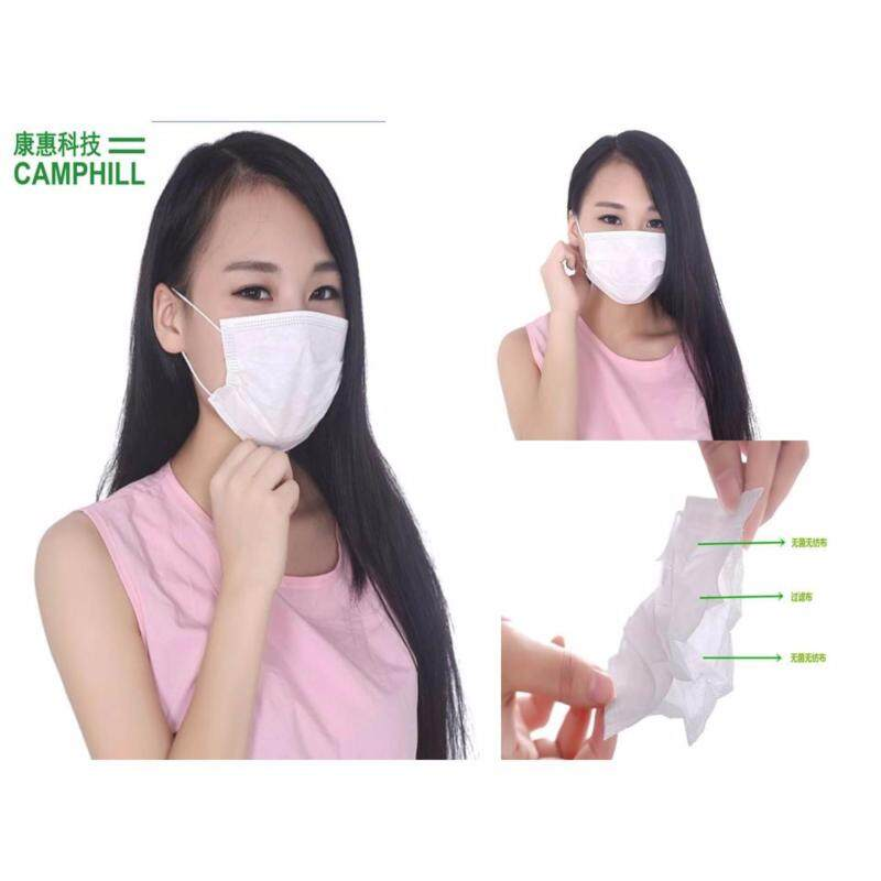 Buy 3 Layer Anti-Haze White Non Woven Disposable Surgical Medical Facemask Earloop (50 PCS X 5 Boxes) Malaysia