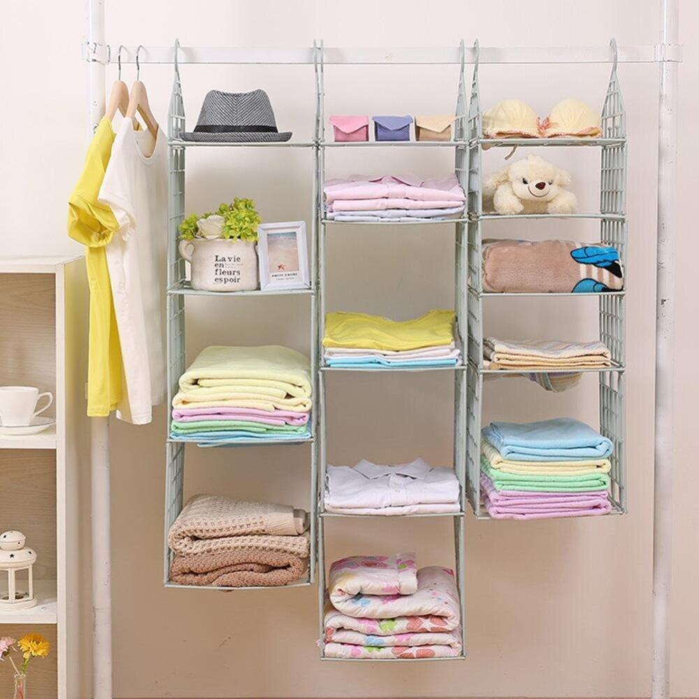 3 Layer Hanging Wardrobe Storage Rack House Hanging Clothes Holder Rack  Organizer Green Malaysia