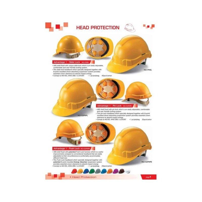 3 pcs Red Proguard Advantage 1 Industrial Safety Helmet Sirim Certified