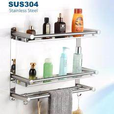 304 stainless steel 3 tier 60cm shampoo rack