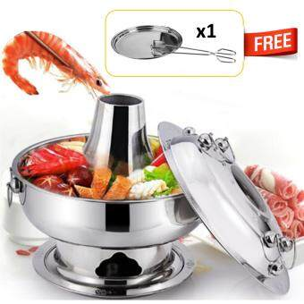 30cm Steamboat Stainless Steel Portable Pot Soup Kitchenware Master Cook Pot