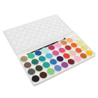 Harga 36 Assorted Colors Solid Watercolor Cake Artist Painting Pigment Brush Box Set