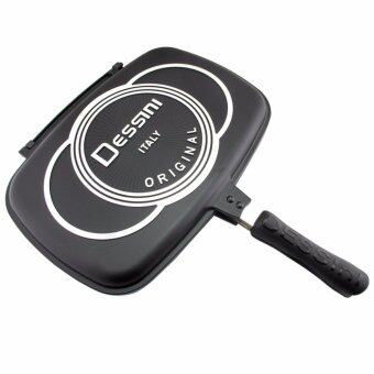 Harga 36Cm Dessini Double Sided Pressure Grill Frying Pan