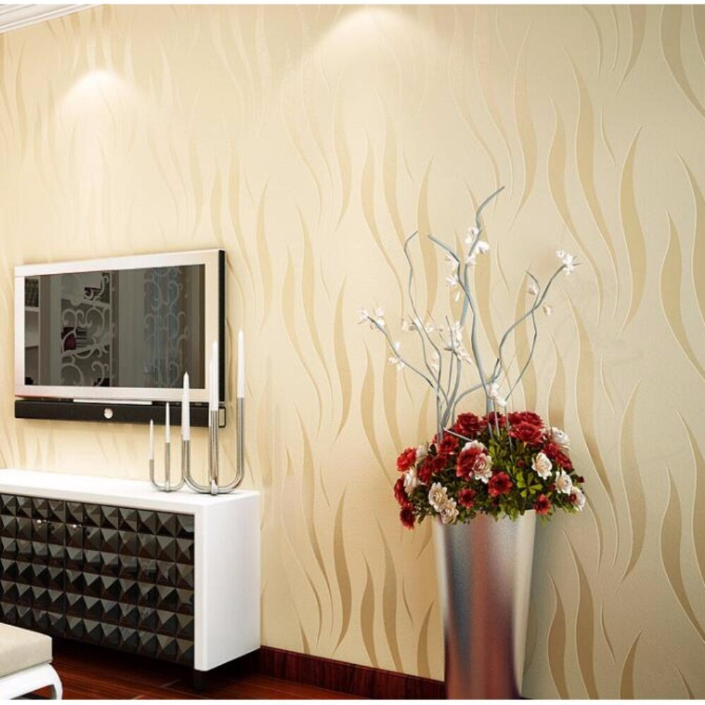 Buy 3D Relief Wallpaper Modern Simple Seamless Eco-friendly Non ...