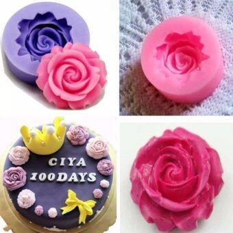 3D Rose Flower Fondant Cake Chocolate Sugarcraft DIY Silicone MoldCutter Tools