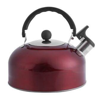 Harga 3L Stainless Steel Electric Stove Whistling Large Spout CoffeeKettle Hot Water Tea Pot Red