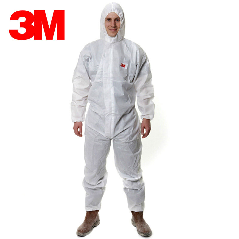 Buy 3M 4515 protective clothing clean clothes piece hooded dust clothes breathable work clothes waterproof chemical warfare clothes Malaysia