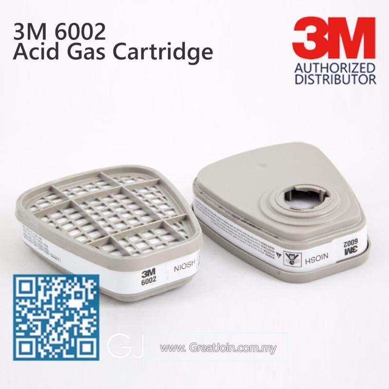 3M 6002 Acid Gas Cartridge/ Ag Cartridge/ White [1 Pair]
