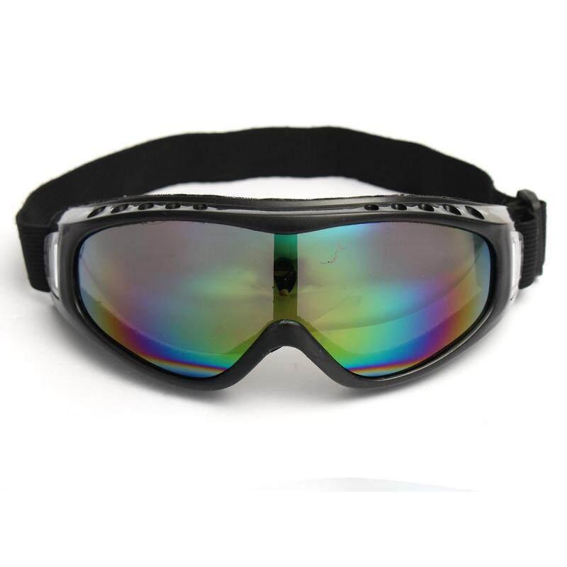 Buy 3pcs Snowboard Dustproof Sunglasses Motorcycle Ski Goggles Eye Lens Glasses Eyewear colorful Malaysia