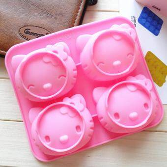 4-cavity Hello Kitty Silicone Mold | Chocolate Moulds | Jelly Molds| DIY Silicon Soap Molds