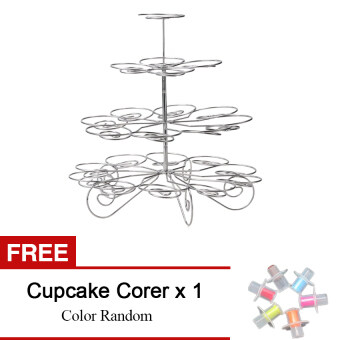 Harga 4 Tiers 23 Cups Cake Bracket Tray Holder Stands for FestivalBirthday Party(Buy 1 Get 1 Freebie)
