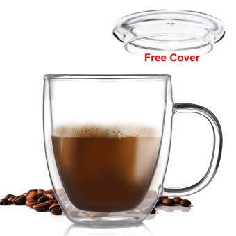 Harga 400ML Locaupin Borosilicate glass high temperature Mug Coffee glassBeer Glass tea cups