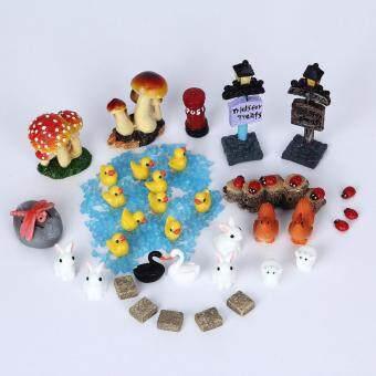 41pcs Miniature DIY Doll House Resin Accessorie Garden Decor LawnOrnaments - 2