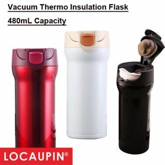 Harga 480mL Locaupin Coffee Vacuum Thermo Insulation Flask