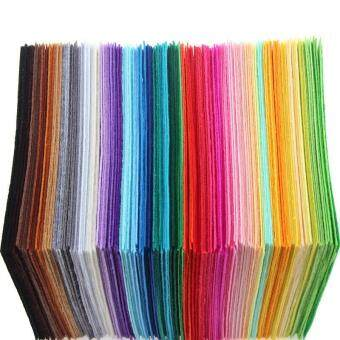 Harga 4ever 40pcs/set 15x15cm Non Woven Felt Fabric 1mm ThicknessPolyester Cloth Felts DIY Bundle For Sewing Dolls Crafts