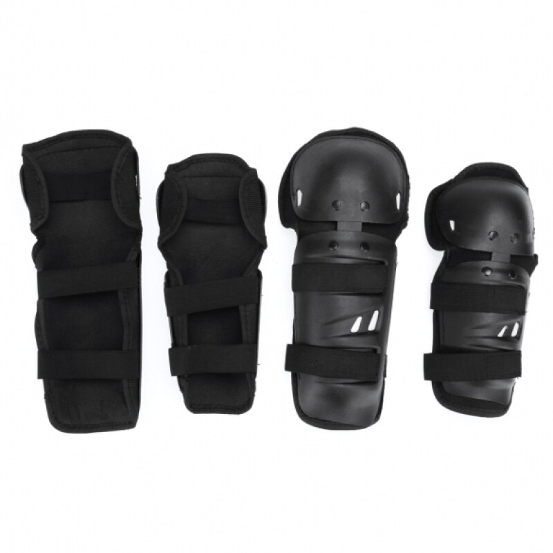 Buy 4Pcs Adult Youth Knee Elbow Shin Protective Guard Pads Dirt For Racing Bicycle Motorcycle (Black) Malaysia