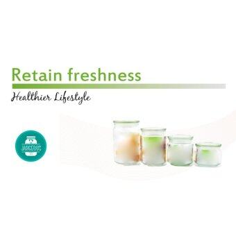 5 pieces Sebastian Pressed Glass Jar (500ml) - 2