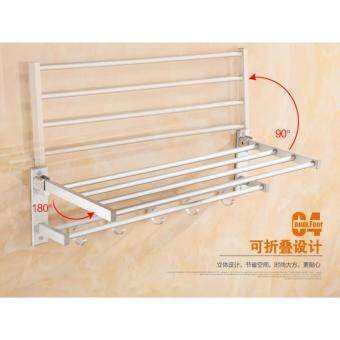 55cm Aluminium Bathroom Towel Shelf - 3