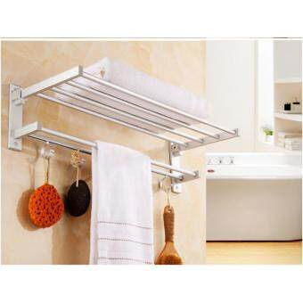 55cm Aluminium Bathroom Towel Shelf - 4