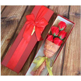 Harga 5pcs Soap Flower with Gift Box / Soap Flowers Gift / Love Presentfor Birthday Anniversary Valentines mother