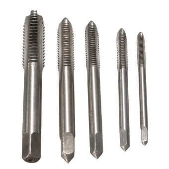 5PCS/Set HSS M3 M4 M5 M6 M8 Machine Hand Screw Thread Metric PlugTap Drill - 4