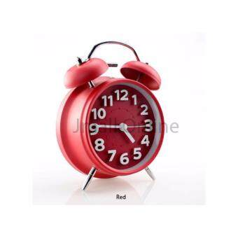 [6 Cute Collection - Free AA Battery For West Malaysia] Twin Bell Loud Analogue Alarm Clock with 3D Numbering - 6 Colours