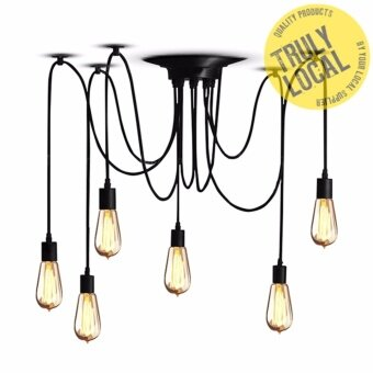 6 Heads Vintage Industrial Ceiling Lamp Edison Light