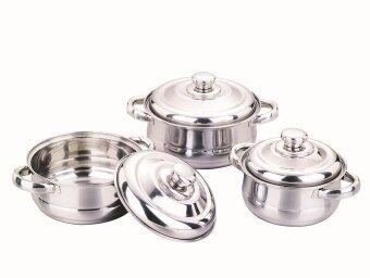 6 Pcs Stainless Steel Pearl Cookware Set With Stainless Steel Handle 16/18/20CM