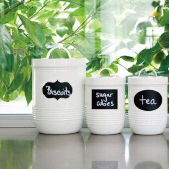 60PCS Jars Blackboard Labels Oval