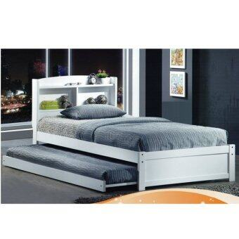 733W N 72A white Single Bed with Trundle