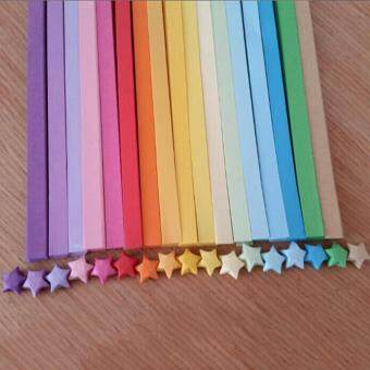Harga 80pcs Origami Lucky Star Paper Strips Folding Paper Ribbons Colors