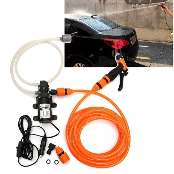 8pcs/set Portable 80W 116PSI 12V High Pressure Car Electric Washer Wash Pump