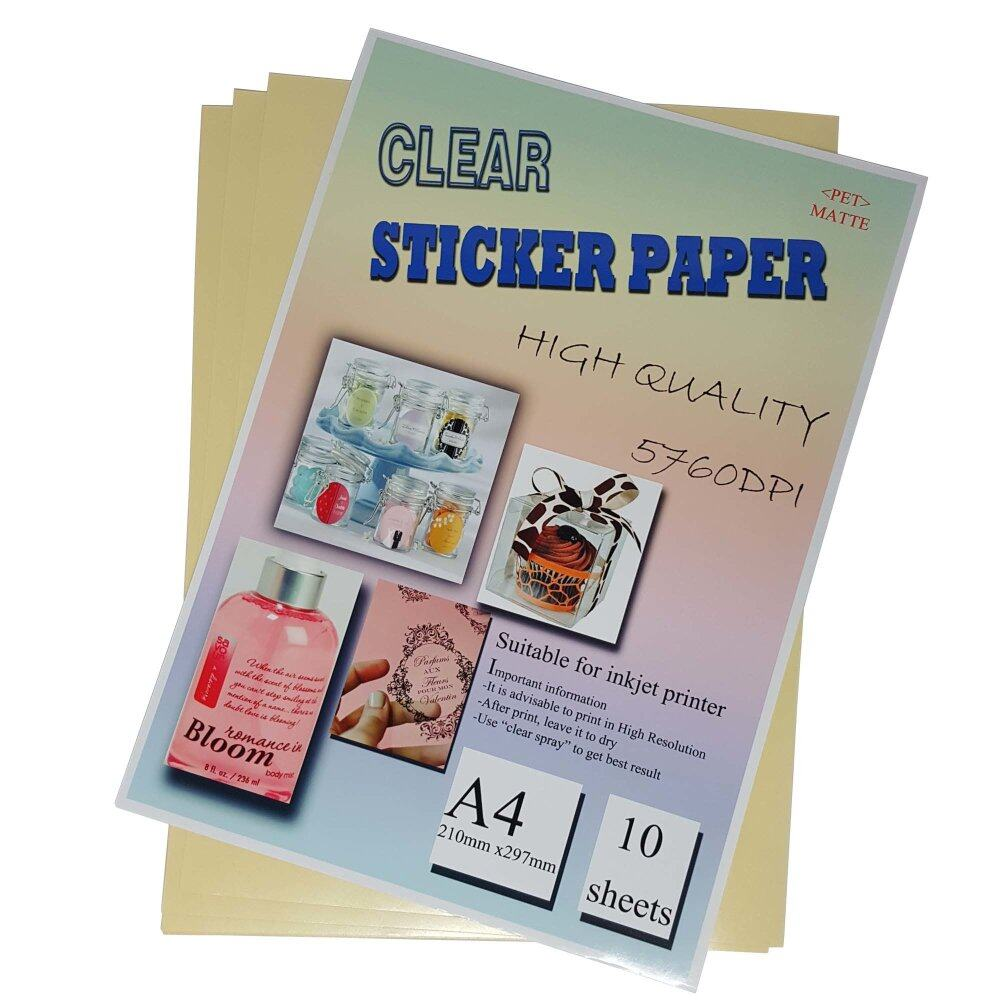 A Clear Sticker Paper For Inkjet And Laser Printer Lazada Malaysia - Printer sticker