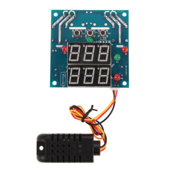 Harga AC/DC 12V Intelligent Temperature Humidity Controller RelayThermostat