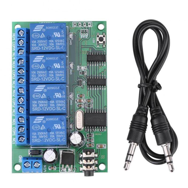 AD22B04 12V 4 Channel DTMF Tone Signal Decoder Relay Phone Remote Control Accessries PLC