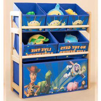 Adorable Playmate Kids Toy with 6 Bins Non - Woven StorageOrganizer Rack