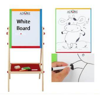ADORE Tall Double Sided Folding Black and White Wooden Chalk BoardDrawing Board