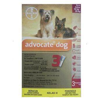 Harga Advocate Dog Spot On Solution For Large Dogs 10-25kg (2.5ml x 3Pipette)
