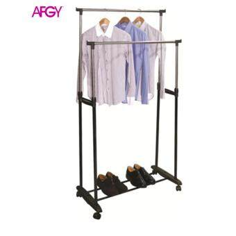 Harga AFGY FGR 029 Stainless Steel Double Pole Garment Rack