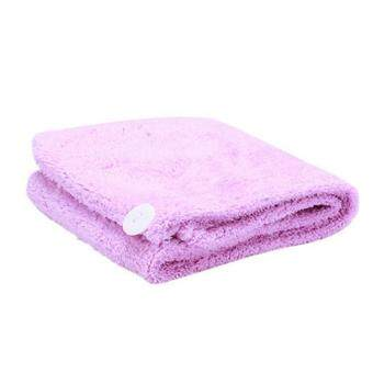 Ai Home Quick Hair Drying Bath Spa Wrap Towel Microfibre Turban DryHat (Purple)