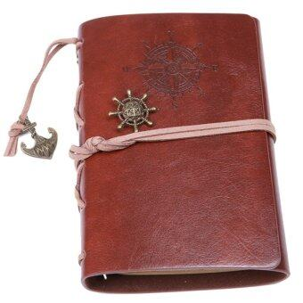Ai Home Vintage Blank Loose-leaf Notebook Diary Sketchbook NotepadS (Dark Brown)