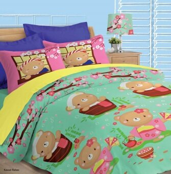 Akemi Fantasia Super Single Fitted Sheet Set (Kawaii Bears)