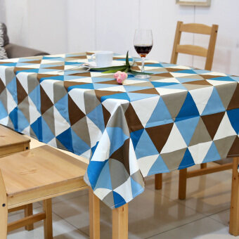 American Pastoral Countryside Triangular Geometry Waterproof Livingroom Coffee Table Dining Cloth Tablecloth Fabric Clothrectangle