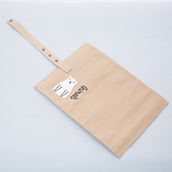 An Anfan cloth home portable rolling stationery bag