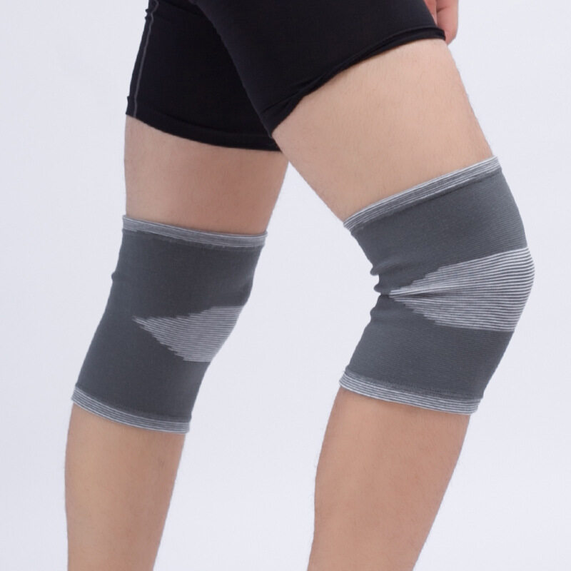 Anti-collision basketball knee pads knitted warm knee pads professional outdoor sports goods (Size: L) A11YDHJ0705